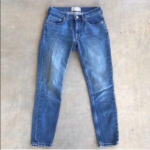 Everlane Skinny Ankle Jeans Medium Wash Denim